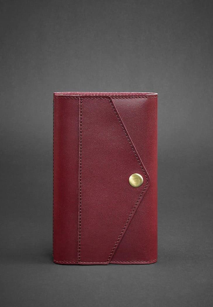 Кожаный блокнот (Софт-бук) 2.0 бордовый  - BN-SB-2-st-vin