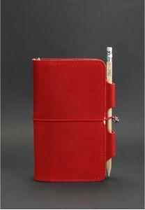 Кожаный блокнот (Софт-бук) 3.0 Коралл - красный