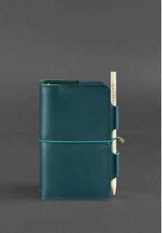 Кожаный блокнот (Софт-бук) 3.0 Малахит