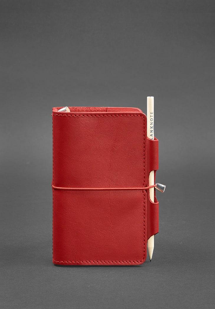 Фото Женский кожаный блокнот (Софт-бук) 3.0 красный BlankNote