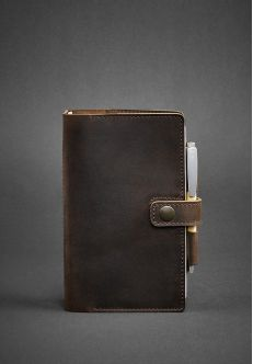 Кожаный блокнот (Софт-бук) 4.0 Орех