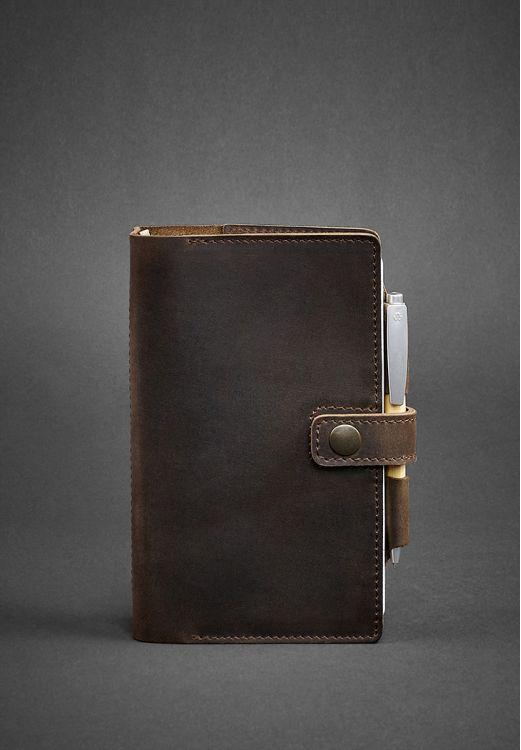 кожаный блокнот коричневого цвета