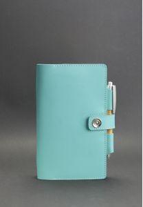 Кожаный блокнот (Софт-бук) 4.0 Тиффани - бирюзовый