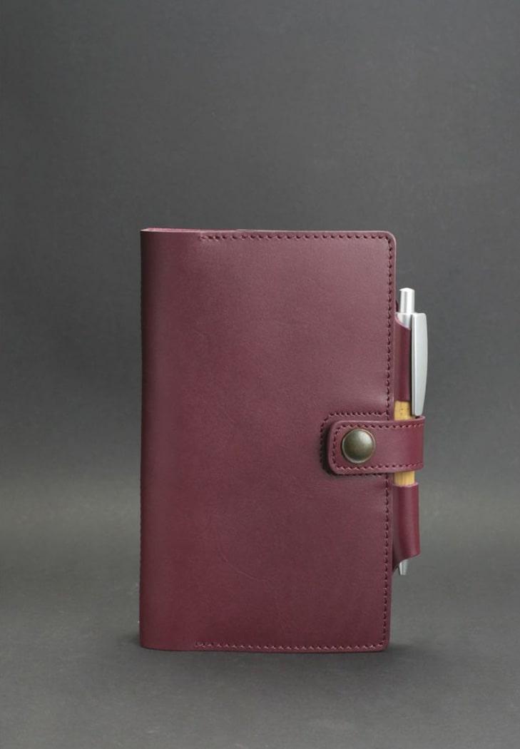 Кожаный  блокнот (Софт-бук) 4.0 бордовый  - BN-SB-4-vin
