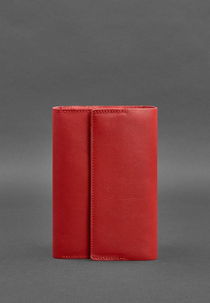 Фото Кожаный красный блокнот (Софт-бук) 5.1 для женщин
