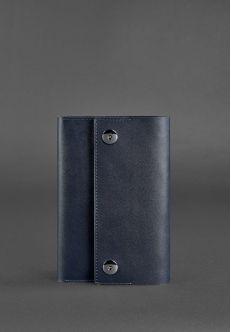 Кожаный блокнот (софт-бук) 5.0 темно-синий