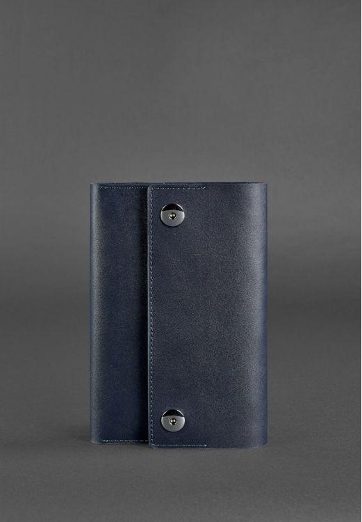 Фото Кожаный блокнот (софт-бук) 5.0 темно-синий BlankNote