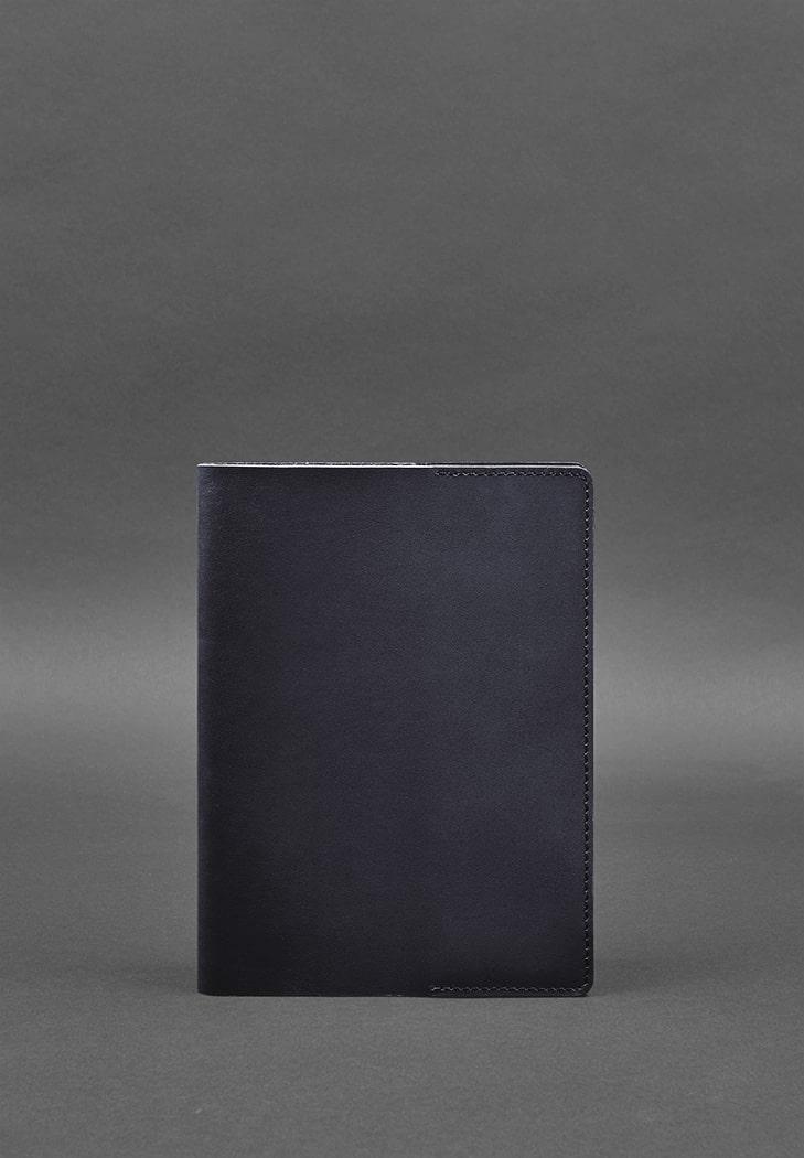 Фото Кожаная обложка для блокнота 6.0 (софт-бук) синяя BlankNote