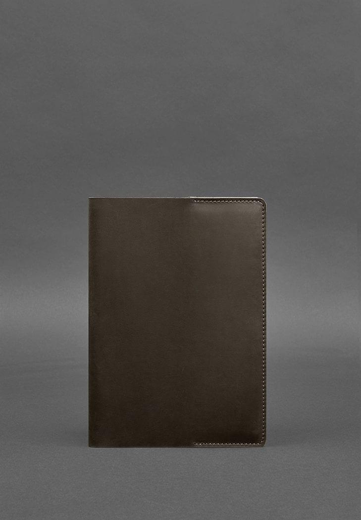 Фото Кожаная обложка для блокнота 6.0 (софт-бук) темно-коричневая