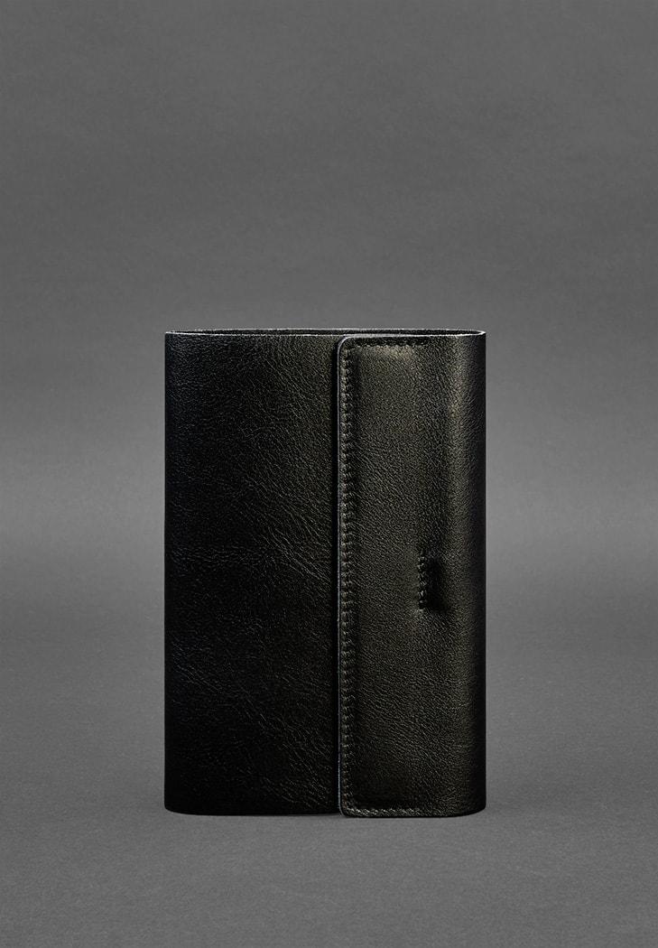 Кожаный блокнот софт-бук 7.0 угольно-черный