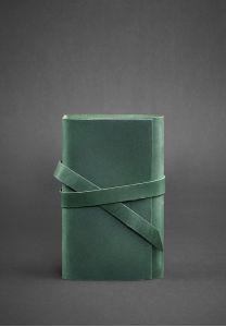 Кожаный блокнот (Софт-бук) 1.0 Изумруд - зеленый