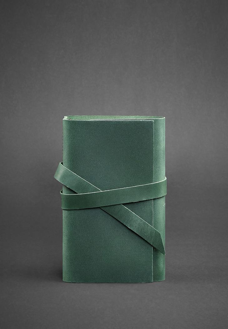 Фото Кожаный блокнот (Софт-бук) 1.0 зеленый
