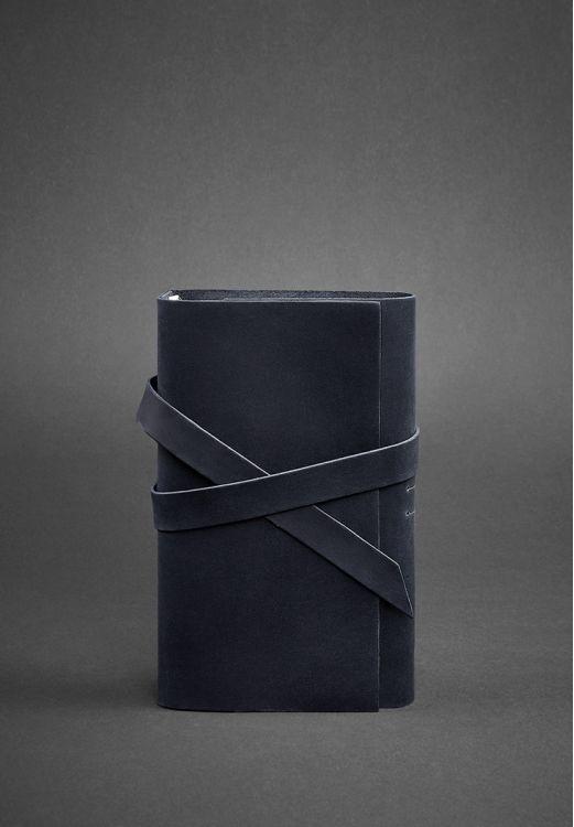 кожаный блокнот черный