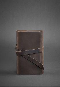 Женский кожаный блокнот (Софт-бук) 1.0 темно-коричневый