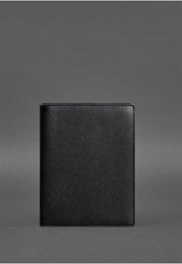 Кожаный блокнот на сегрегаторе (мягкая обложка на кольцах) 13.0 черный