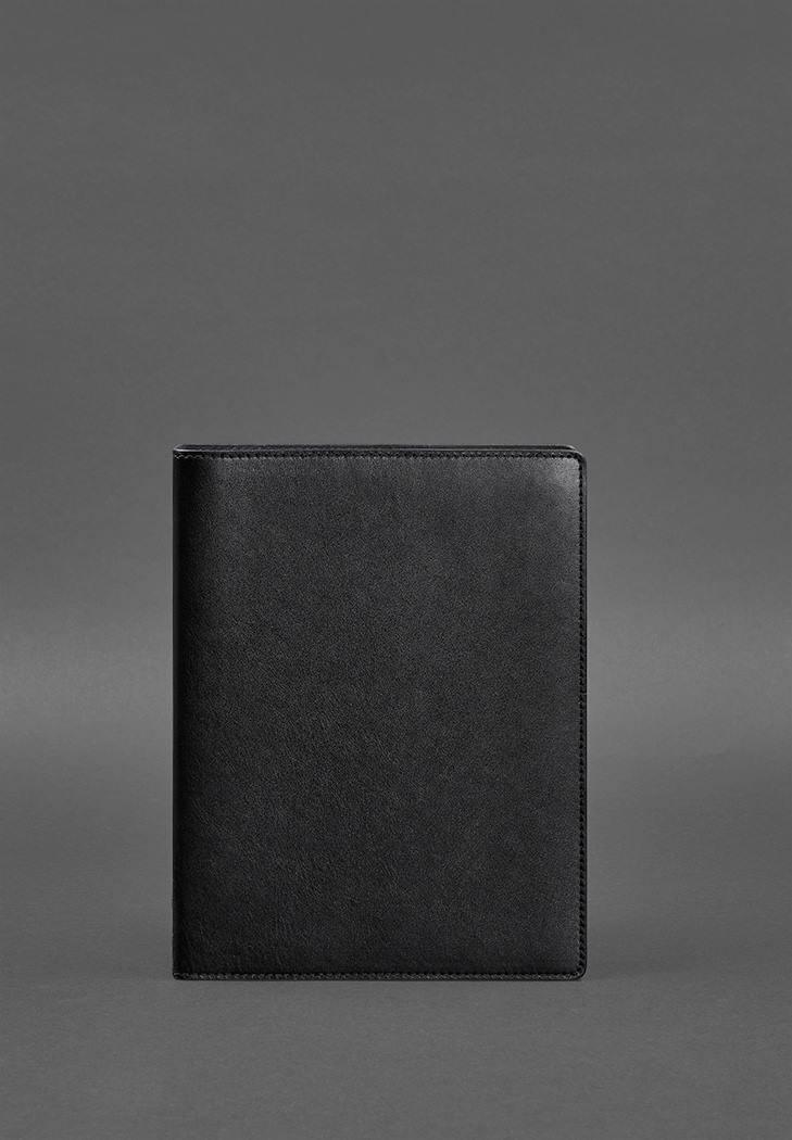 Фото Кожаный блокнот на кольцах 13.0 черный (BN-SB-13-g)