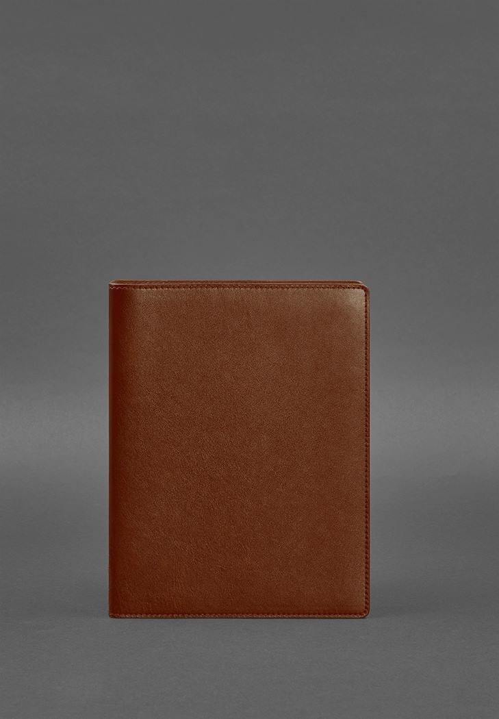 Фото Кожаный блокнот на кольцах 13.0 светло-коричневый (BN-SB-13-k)