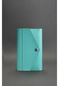Кожаный блокнот (Софт-бук) 2.0 Тиффани - бирюзовый