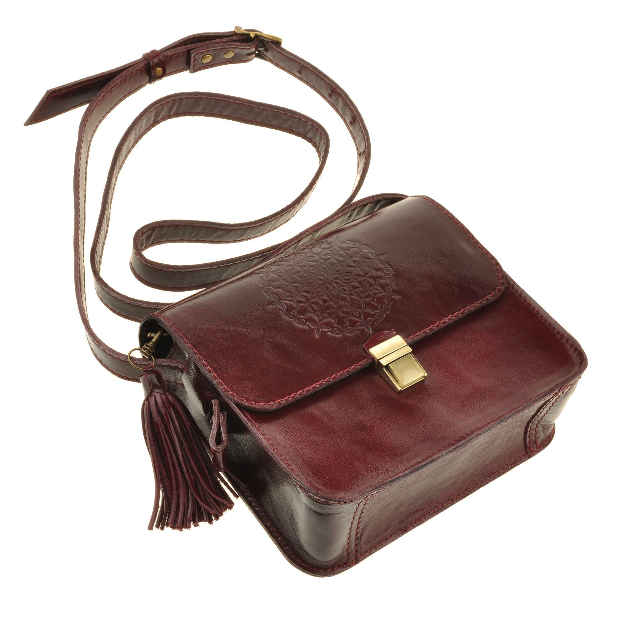 """Бохо-сумка """"Лилу"""" вишня Фото 2"""