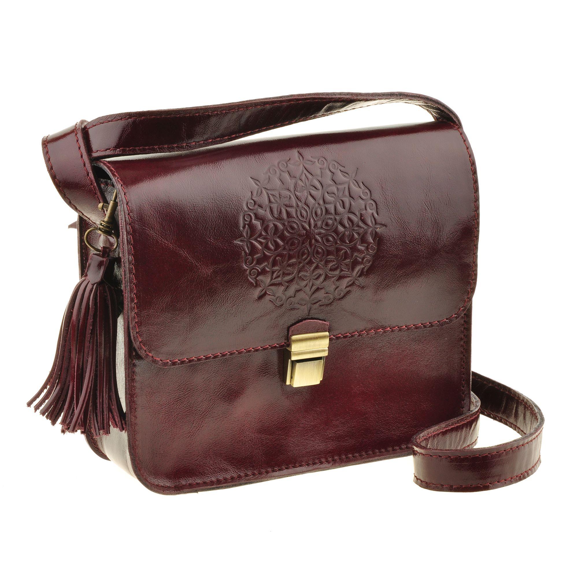 """Бохо-сумка """"Лилу"""" вишня Фото 4"""