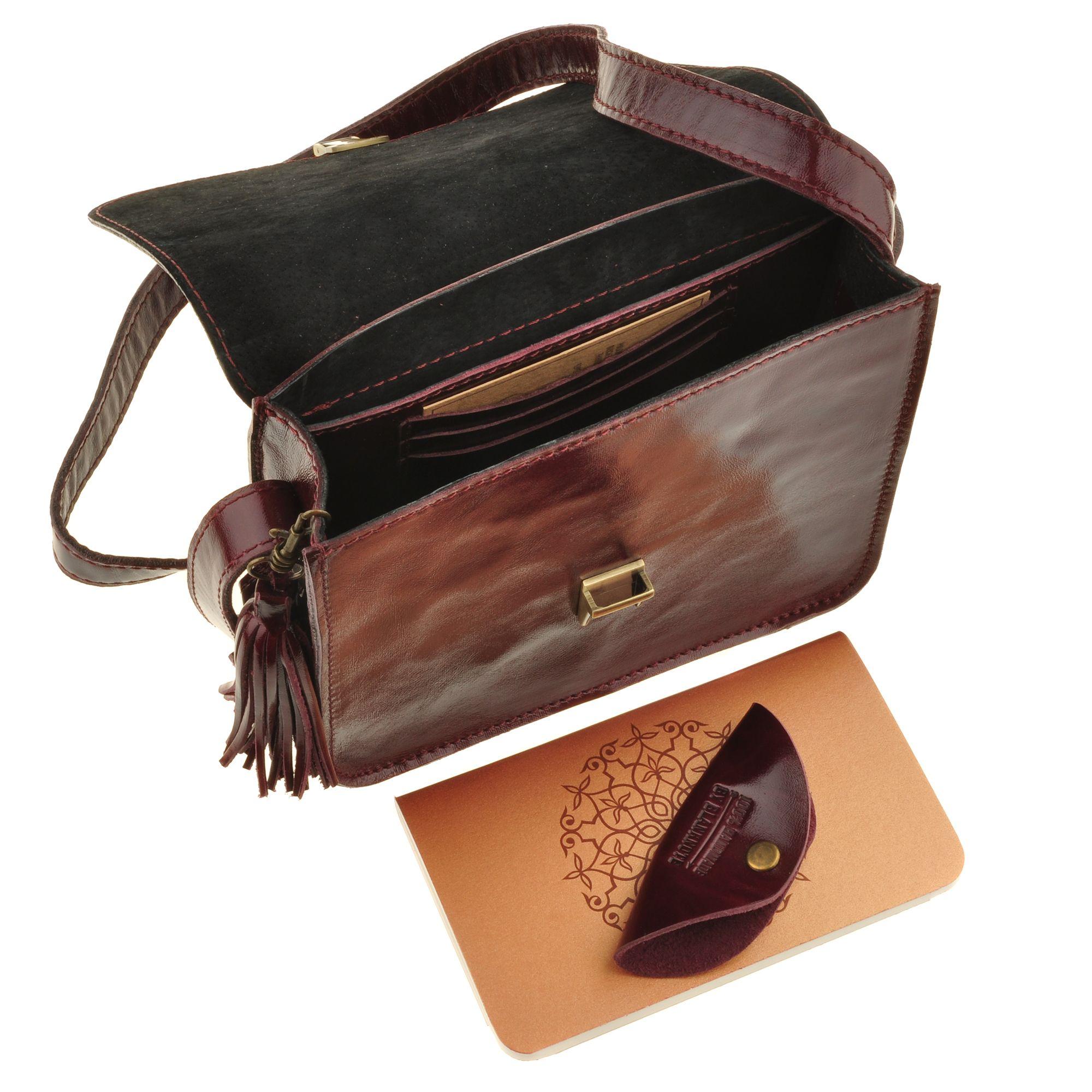 """Бохо-сумка """"Лилу"""" вишня Фото 5"""
