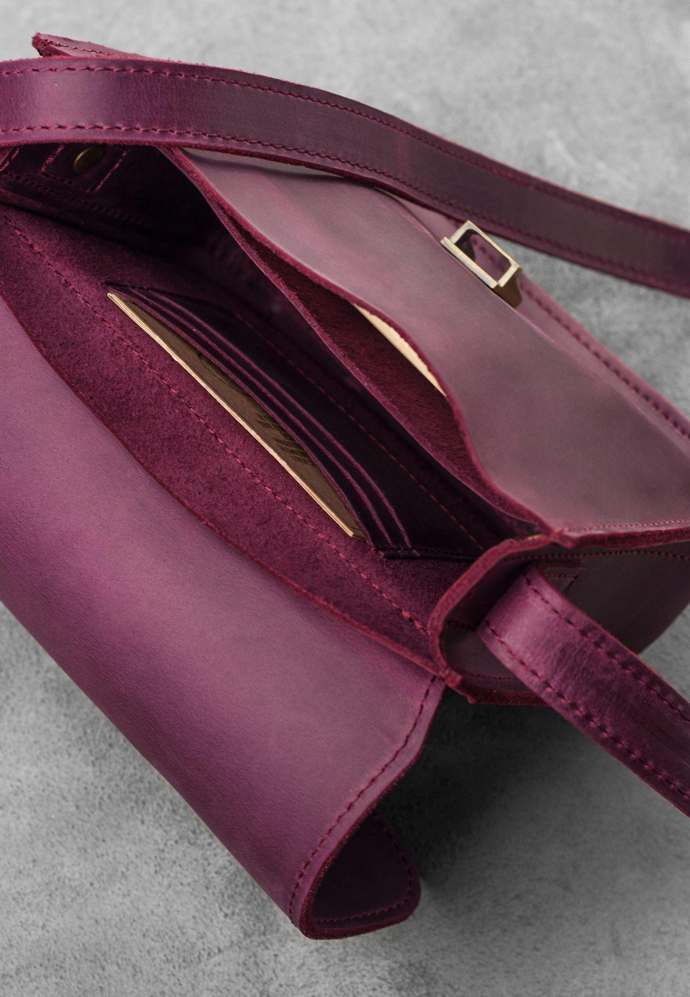 Кожаная сумка бохо Лилу Виноград Фото 1